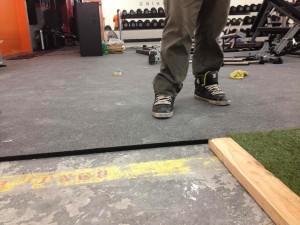 demo flooring 1inch