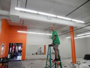 demo orange wall