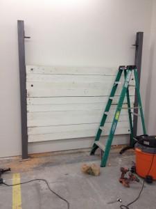 demo start of wall