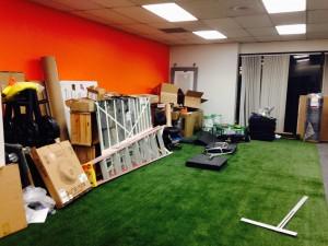 demo turf mess small gym